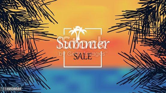 Summer Sale Banner Background