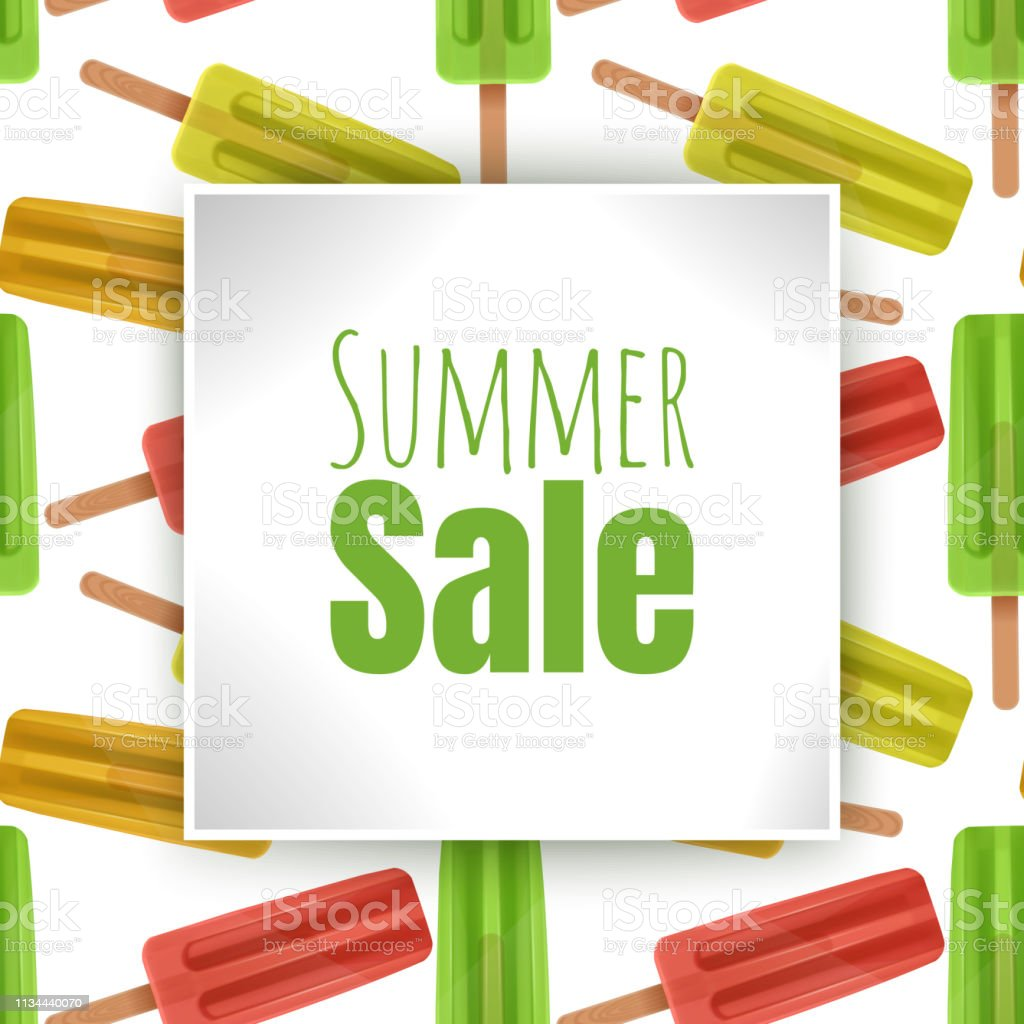 Summer sale banner design for promotion, background with colorful...