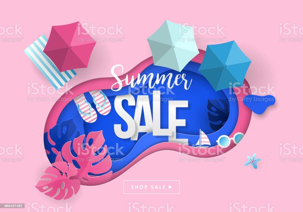 Summer sale banner design - Grafika wektorowa royalty-free (Abstrakcja)