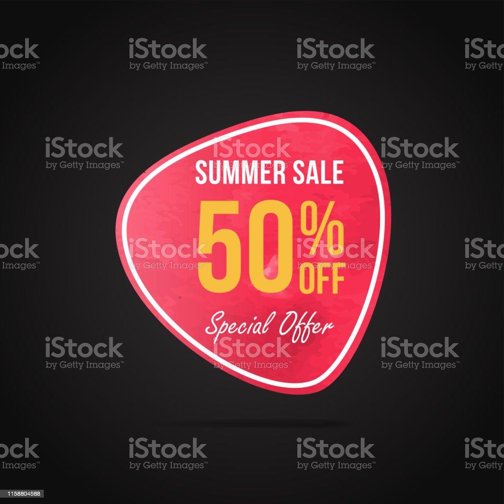 Summer sale banner template, Promo banner for your seasonal design....