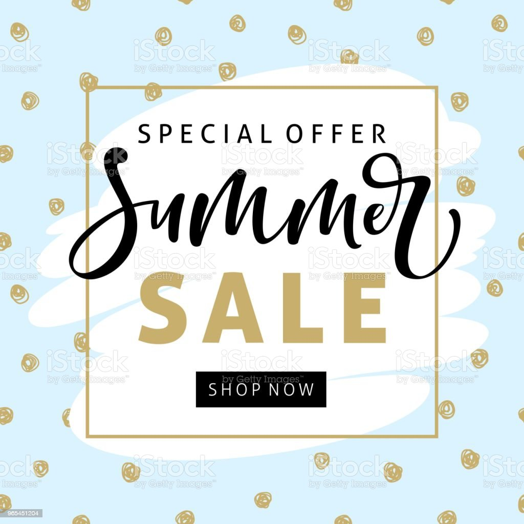 Summer sale banner template with modern brush calligraphy for online shopping, vector illustration. summer sale banner template with modern brush calligraphy for online shopping vector illustration - stockowe grafiki wektorowe i więcej obrazów banner internetowy royalty-free