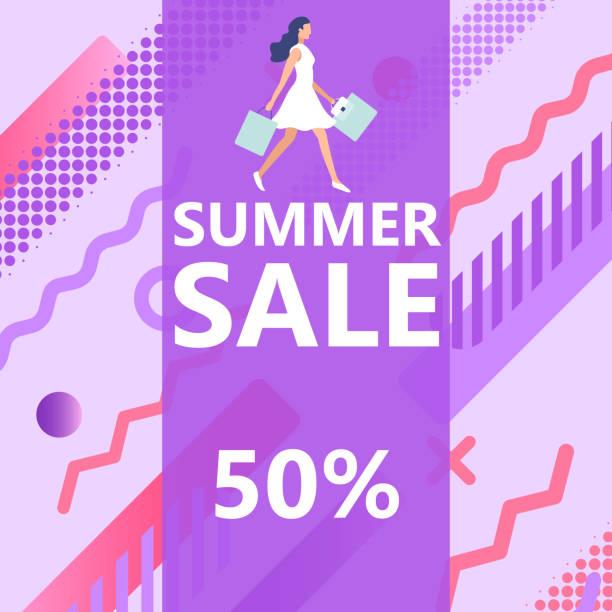 Sommer-Verkaufsbanner – Vektorgrafik