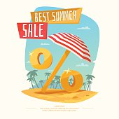 Original concept poster discount sale. Summer Sale banner. Vector illustration