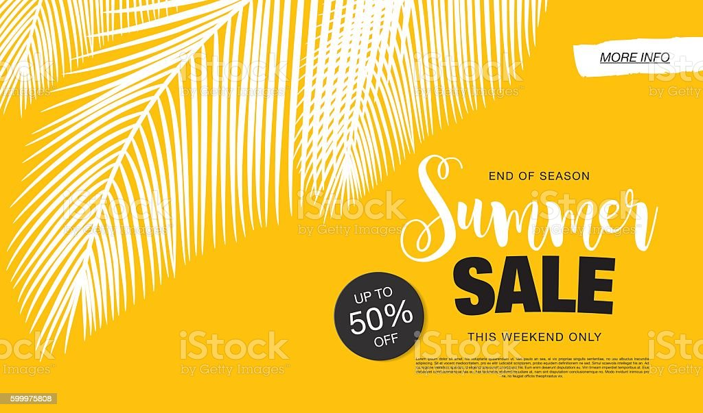 Summer Sale banner vector art illustration