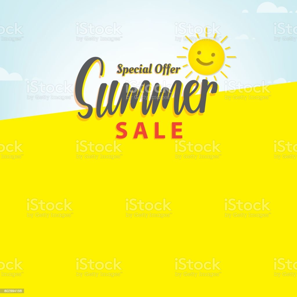 Summer Sale Blank Frame Heading Design For Banner Or Poster And Discounts Concept