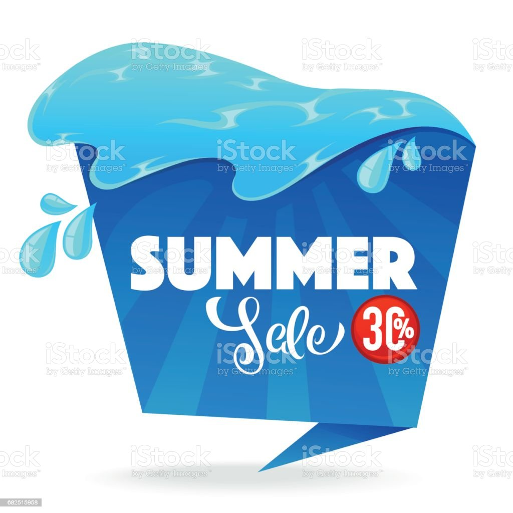 summer sale, cartoon shine vector discount banner template design with lettering composition royalty-free summer sale cartoon shine vector discount banner template design with lettering composition stock vector art & more images of abstract