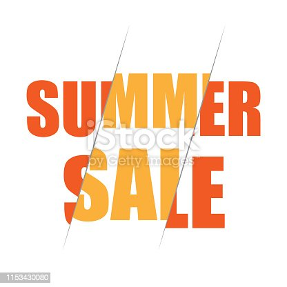 Summer Sale collection. Vector summer background with bokeh. Text design.