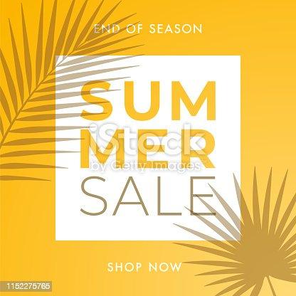 Summer Sale design for advertising, banners, leaflets and flyers. Illustration