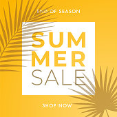 Summer Sale design for advertising, banners, leaflets and flyers. Illustration