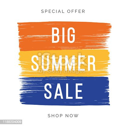Summer Sale design for advertising, banners, leaflets and flyers. - Illustration