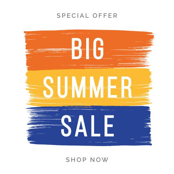Summer Sale design for advertising, banners, leaflets and flyers. vector art illustration