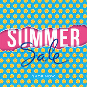 Summer Sale design for advertising, banners, leaflets and flyers. Popsicle Seamless Pattern. - Illustration