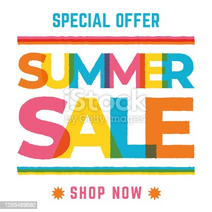 istock Summer Sale design for advertising, banners, leaflets and flyers. 1253489592