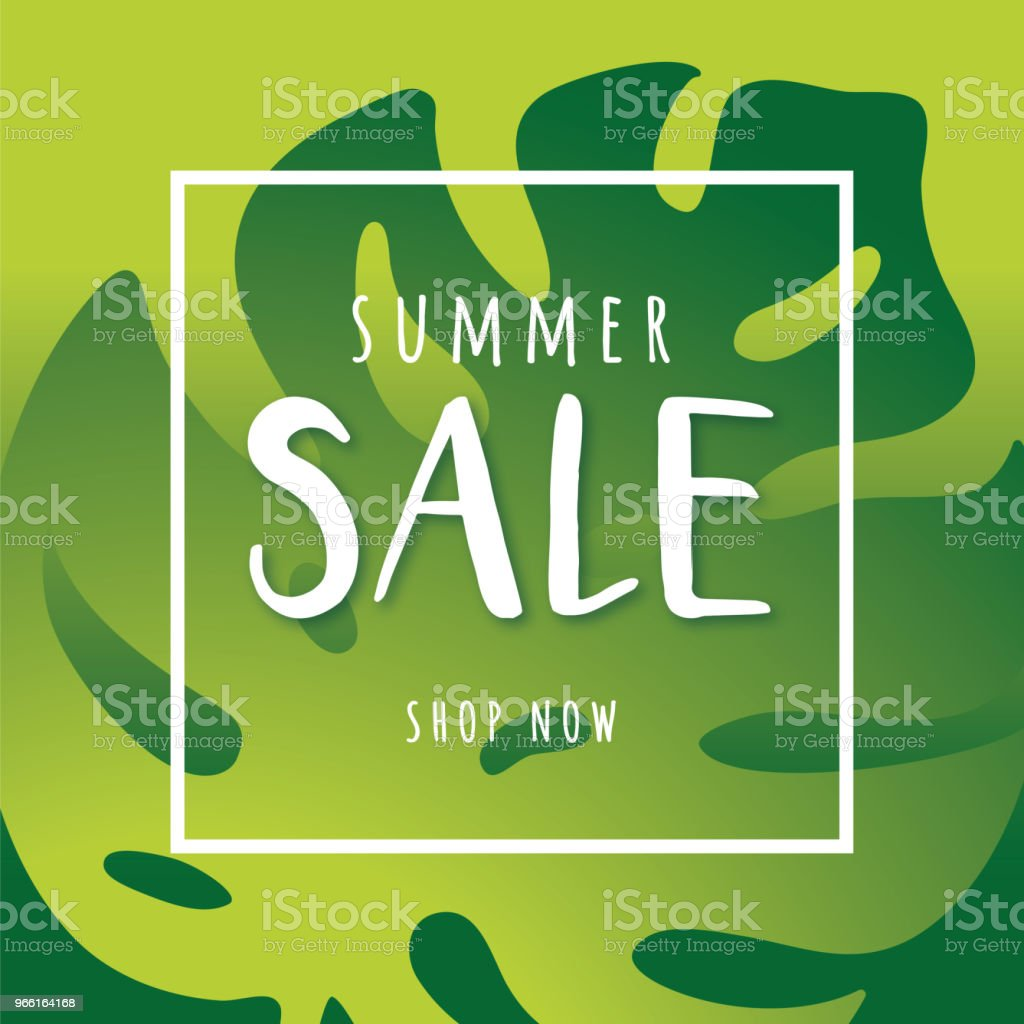 Summer sale design for advertising, banners, leaflets and flyers - Royalty-free Advertisement stock vector