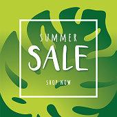 Summer sale design for advertising, banners, leaflets and flyers - Illustration
