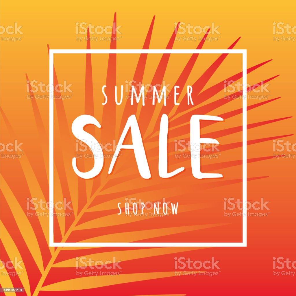 Summer sale design for advertising, banners, leaflets and flyers - arte vettoriale royalty-free di Albero tropicale