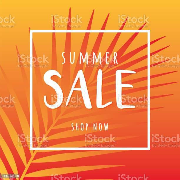 Summer Sale Design For Advertising Banners Leaflets And Flyers — стоковая векторная графика и другие изображения на тему Баннер - знак