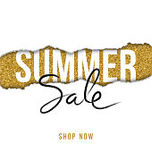 Summer sale design for advertising, banners, leaflets and flyers - Illustration