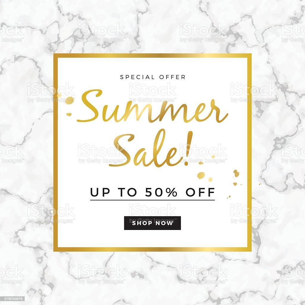 Summer sale design for banner or poster vector art illustration