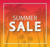 Summer Sale design template website banner, Sale promotional material for social media, poster, email, newsletter, ad, leaflet, placard, brochure, flyer, web sticker vector illustration background