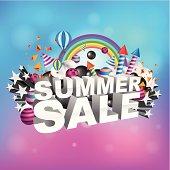 Summer sale design.