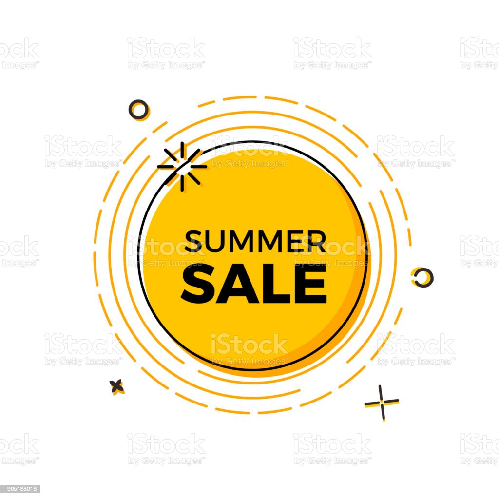 Summer sale design with the sun for print, web design and banners. Vector design royalty-free summer sale design with the sun for print web design and banners vector design stock vector art & more images of advertisement