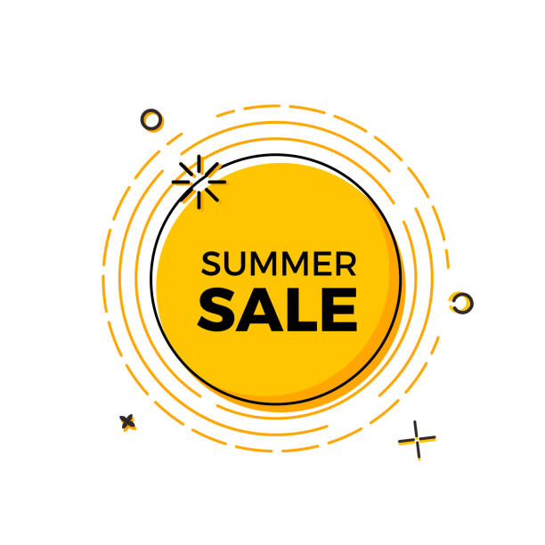 Summer sale design with the sun for print, web design and banners. Vector design vector eps10 dealing cards stock illustrations