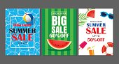 Summer sale emails background layout banners. Can be used for ,flyers, invitation, posters, brochure, voucher discount. Vector ads shopping template.