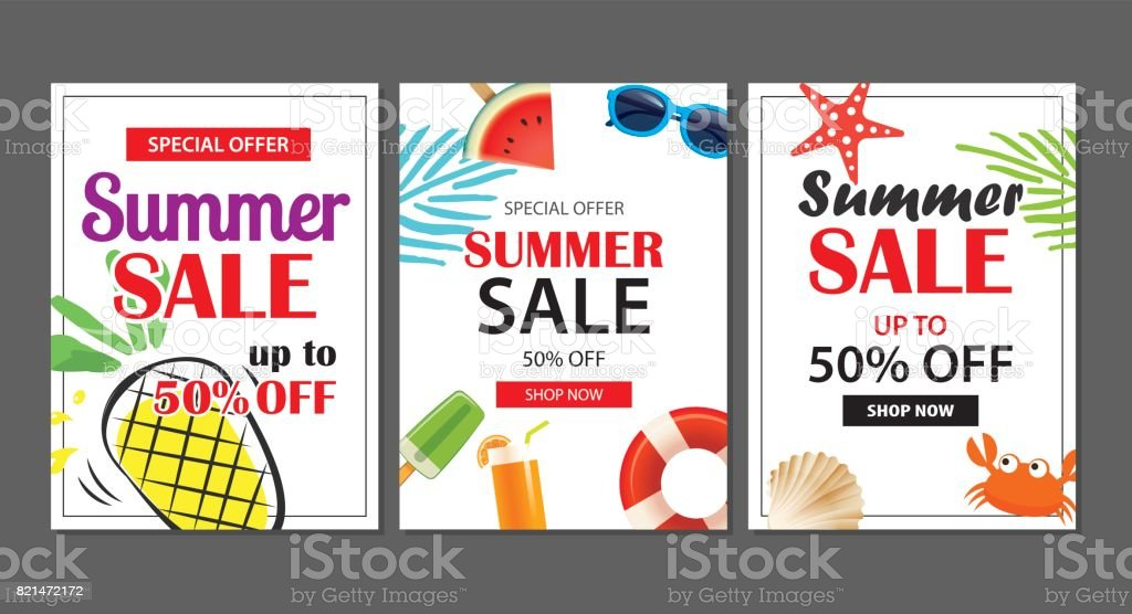 summer sale emails background layout banners can be used for flyers