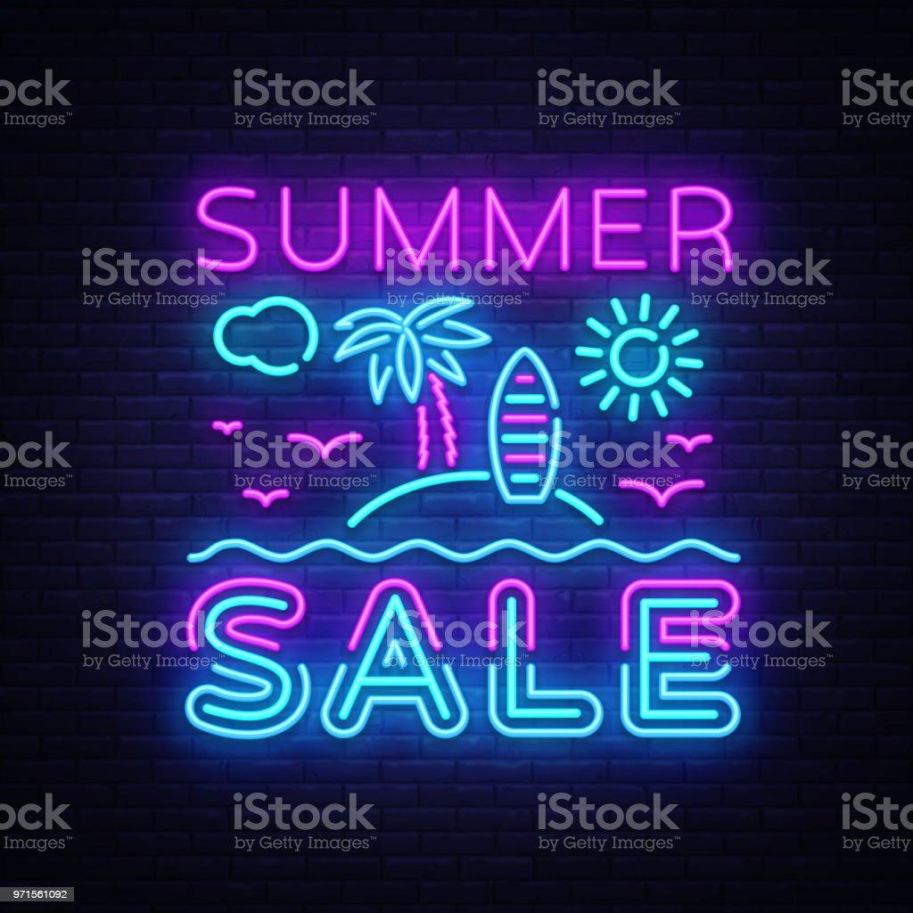 summer sale flyer design template vector summer discounts brochure
