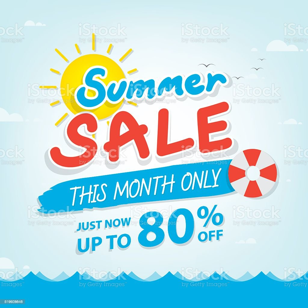Summer Sale Heading Design For Banner Or Poster Promotions ...