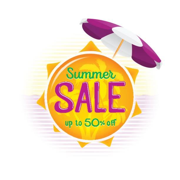 ilustraciones, imágenes clip art, dibujos animados e iconos de stock de venta de verano precio bandera insignia plantilla etiqueta diseño - gran inauguración