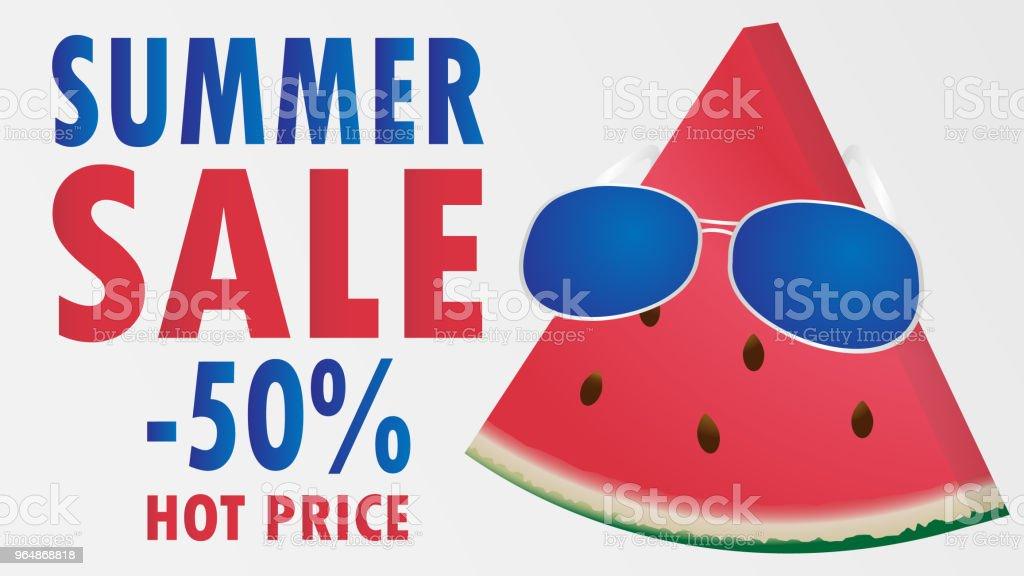 Summer sale melom umbrella beach vector illustration royalty-free summer sale melom umbrella beach vector illustration stock vector art & more images of abstract
