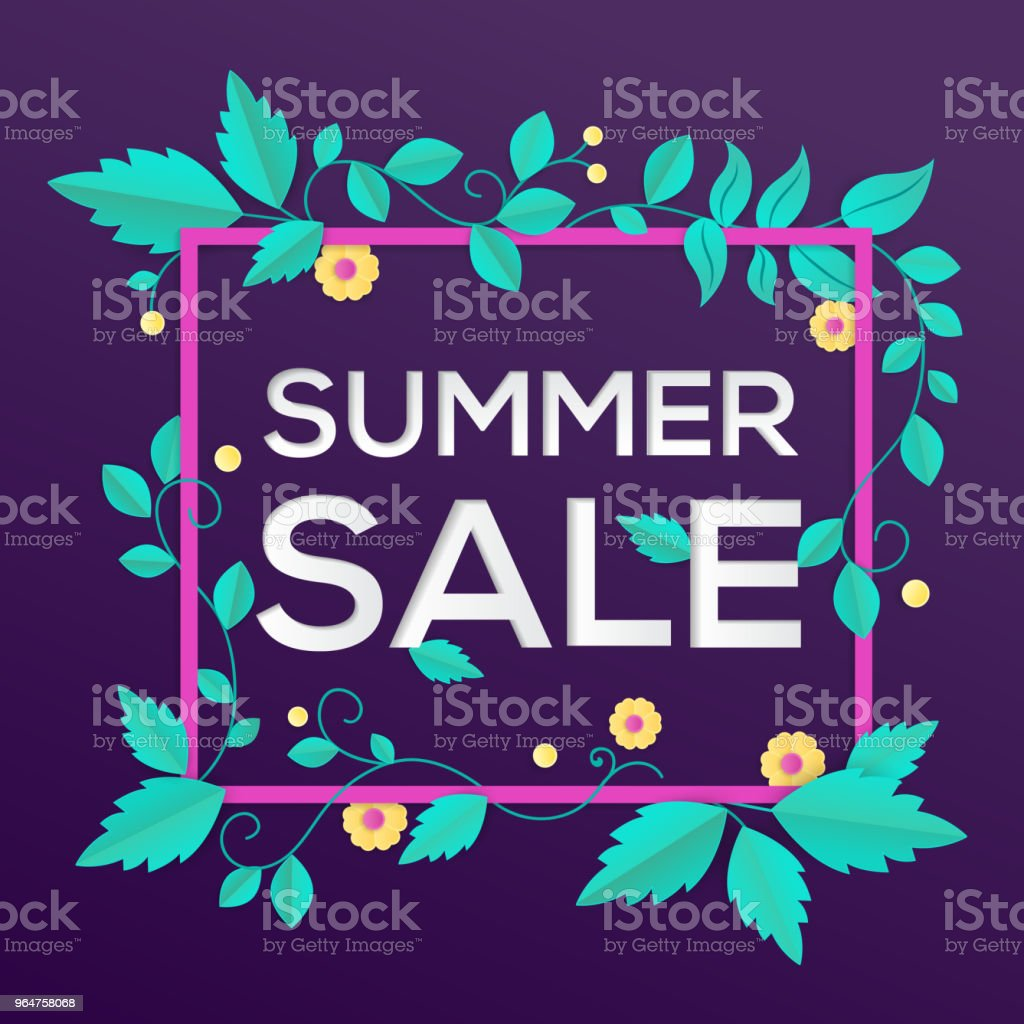 Summer sale - modern vector colorful illustration royalty-free summer sale modern vector colorful illustration stock vector art & more images of backgrounds