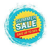 Vector illustration of the summer sale tag