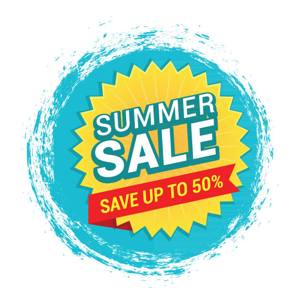 Summer Sale Tag vector art illustration