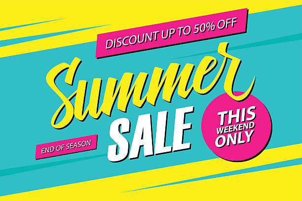 summer sale. this weekend special offer banner. - summer background stock illustrations