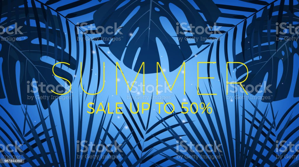 9142f674a Summer Sale Tropical Exotic Palms Background For Summer Sale ...