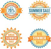Four labels, summer sale.