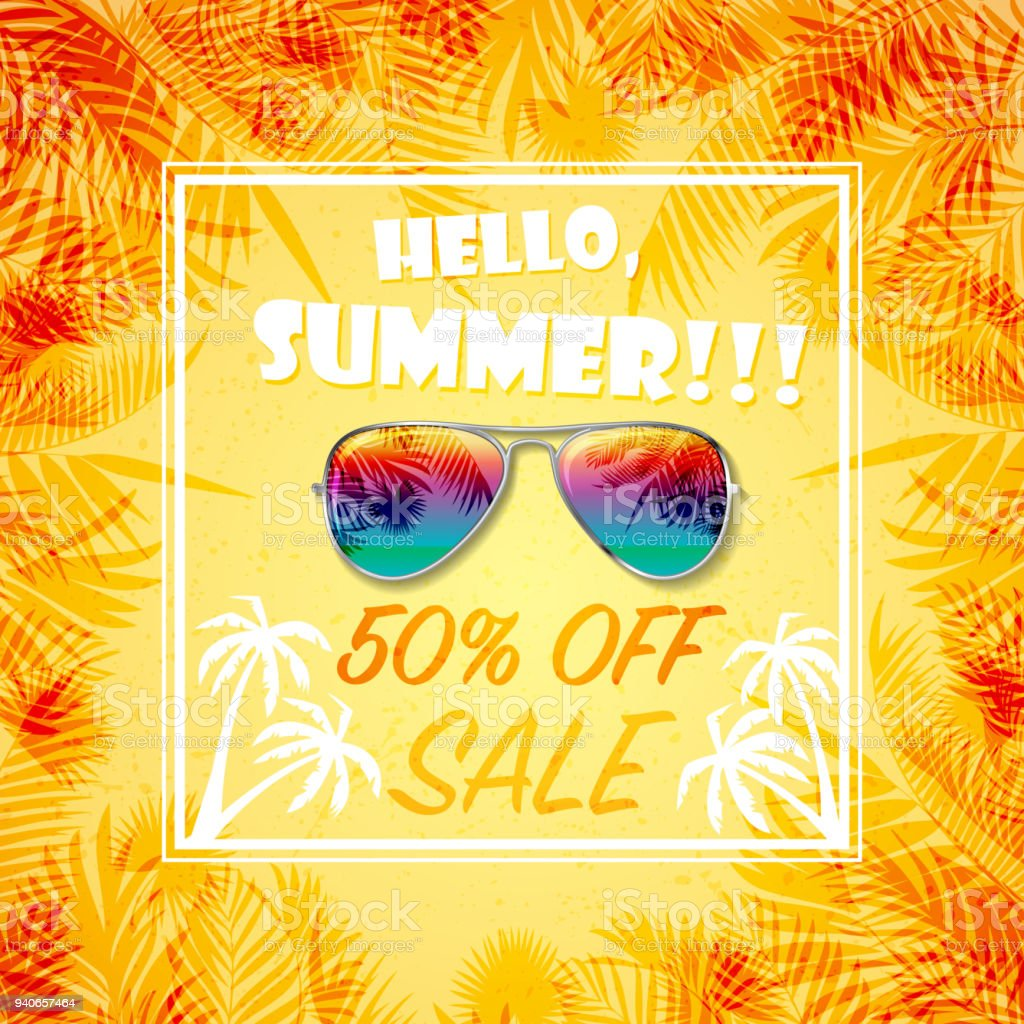 Summer Sale Wallpaper Royalty Free Stock Vector Art Amp More Images