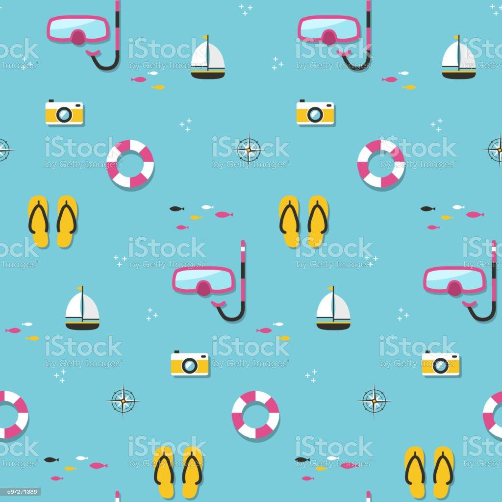Motif sans couture de l'été  motif sans couture de lété – cliparts vectoriels et plus d'images de abstrait libre de droits