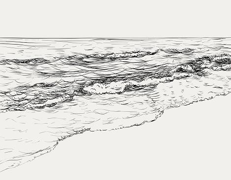 Summer seascape sketch