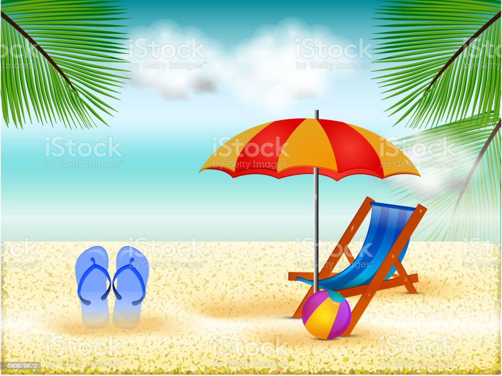 Summer Season Background Stock Illustration - Download