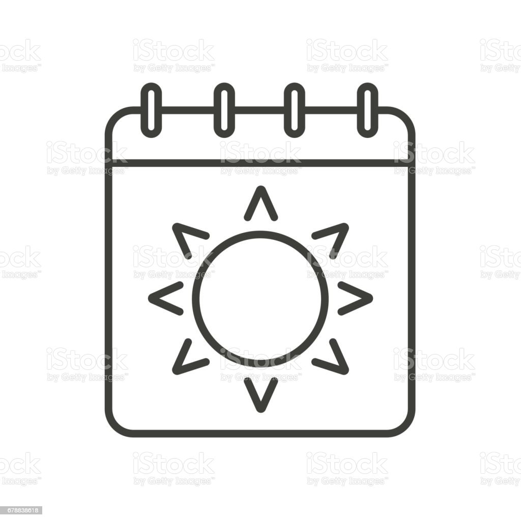 Summer Season Icon Stock Vector Art & More Images of Art 678838618 ...