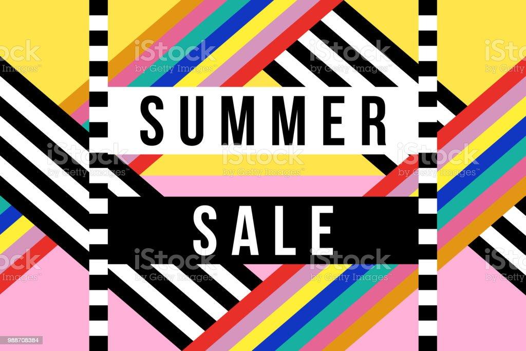 summer season sale sign for business discount stock vector art