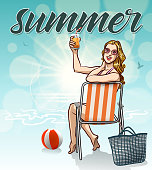 drawn of vector summer season illustrations.This file has been used illustrator CS3 EPS10 version feature of multiply.