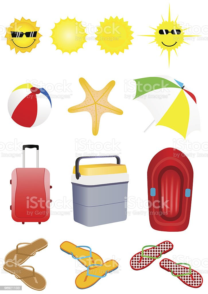 Summer set royalty-free summer set stock vector art & more images of ball