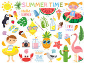 Summer set with cute elements