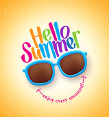 Summer Shades with Hello Summer Happy Colorful Concept