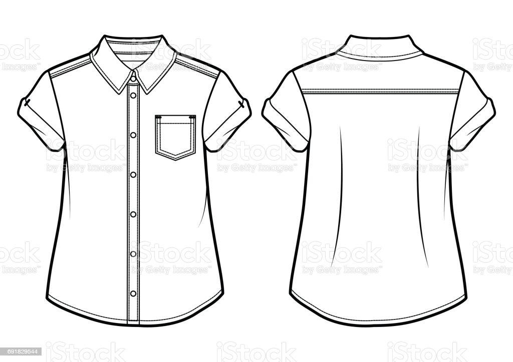 Summer shirt vector art illustration